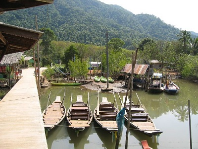 Boot rental in Salak Khok village