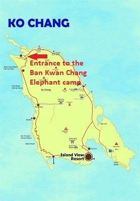 Entrance to the Ban Kwan Chang elephant camp
